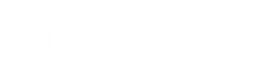 ACORD Transcriber